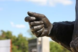 Freedwoman's Hand Sculpture by Adrienne Isom, Juneteenth Memorial Monument, Austin, Texas.