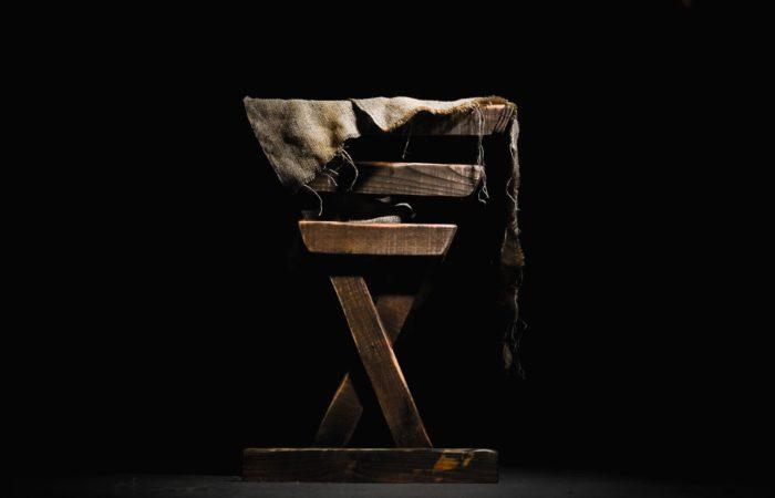 A wooden manger