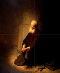 Picture: St Peter in Prison by Rembrandt van Rijn (1631)