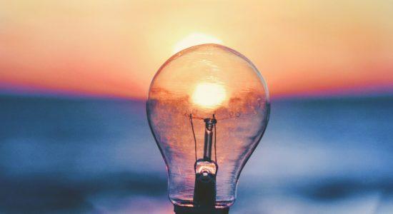 lightbulb and sunset