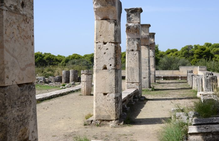 Ruins of a temple of the Greek god Asclepius.