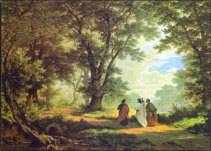 Road to Emmaus by Robert Zund (1877)