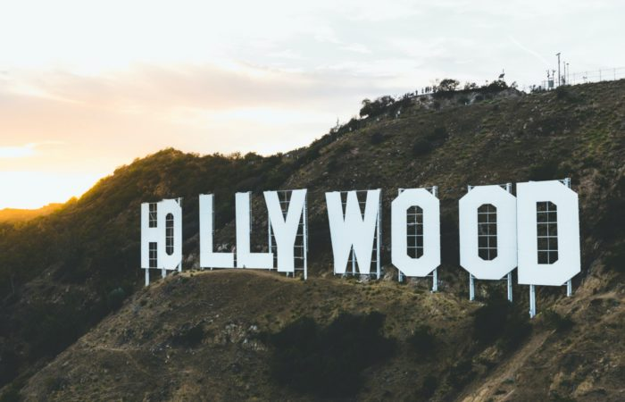 """The famous """"HOLLYWOOD"""" sign at sunset"""