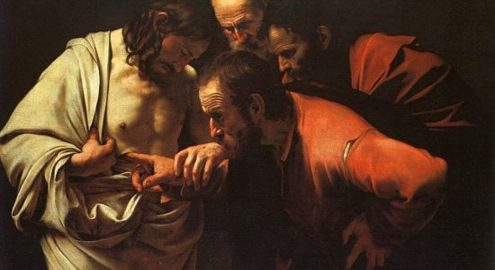The Incredulity of Saint Thomas by Caravaggio (1601-1602)
