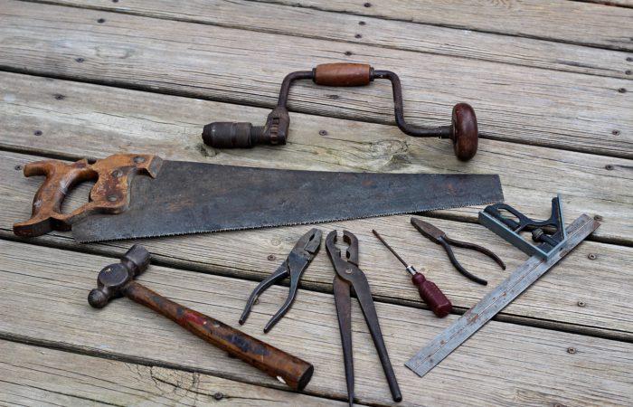 A set of rusty tools