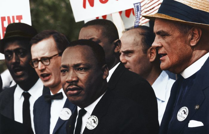 Dr. MLK Jr. and others during the March on Washington