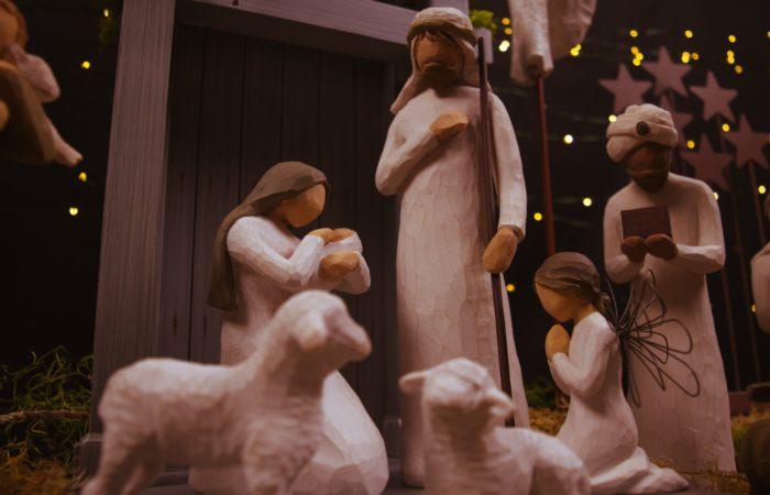 A nativity set