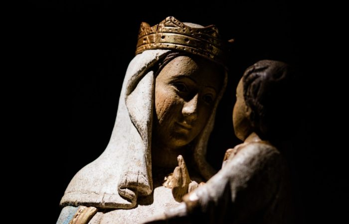 Statue of Mary and baby Jesus