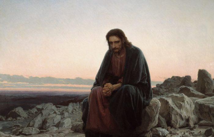 Christ in the Wilderness - Ivan Kramskoy - 1872