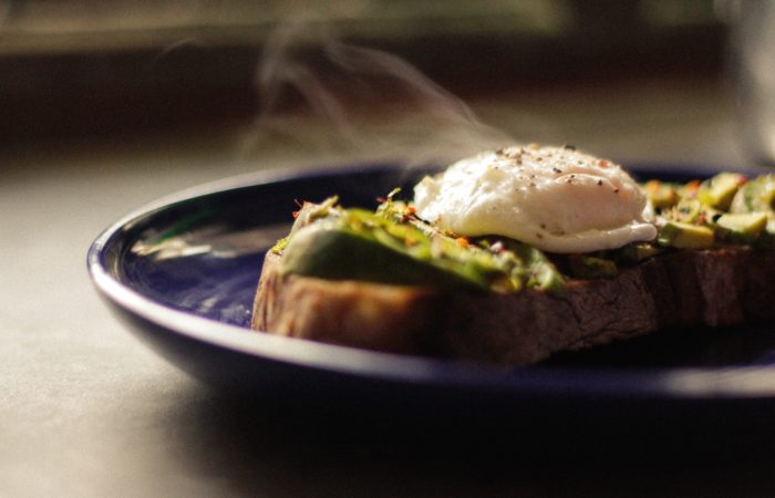 A poached egg on a plate
