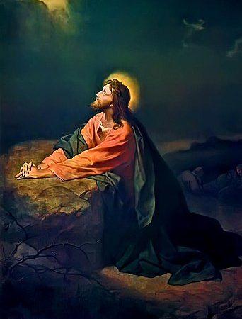 Christ in Gethsemane, Heinrich Hofmann - 1886