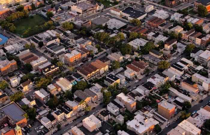 A New York neighborhood from the air