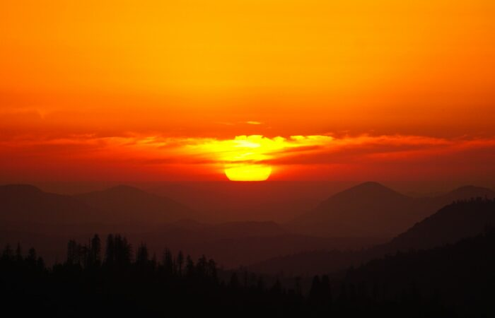 A beautiful red and yellow sunset