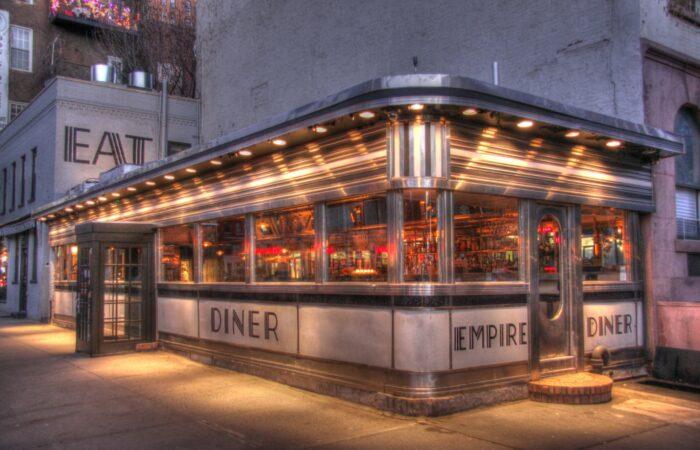 The Empire Diner in the Chelsea neighborhood of Manhattan