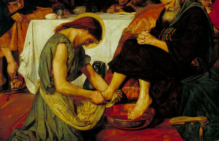 Jesus Washing Peter's Feet by Ford Madox Brown (1852-6)