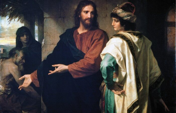 Christ and the Rich Young Ruler, Heinrich Hofmann