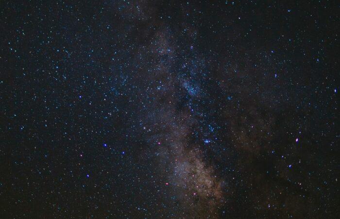 dark night sky full of stars